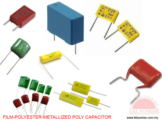 Film-polyester-metallized Poly Capacitor