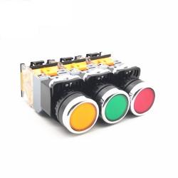 Push Button LA38 (Latching) w/Light